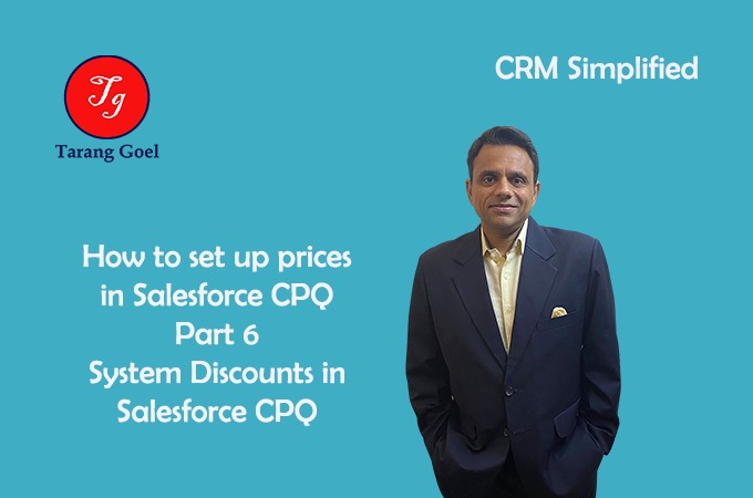 Set up Prices and Discounts in Salesforce CPQ Discount Schedules
